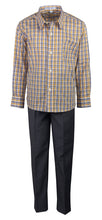 Load image into Gallery viewer, Slim Fit Dress Pant Set with Matching Checkered Shirt (Hendrix)
