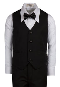 1 Button Notch Slim Fit Black Tuxedo (Cameron)