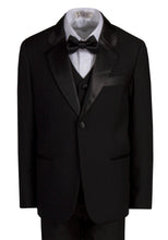 Load image into Gallery viewer, 1 Button Notch Slim Fit Black Tuxedo (Cameron)