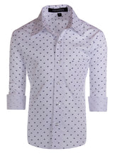 Load image into Gallery viewer, Slim Fit Long Sleeve Designer Button Up Dress Shirt (Gryffin)