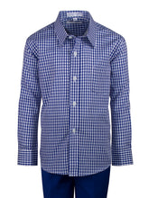 Load image into Gallery viewer, 2 Button Slim Fit Suit with Checkered Dress Shirt (Layne)