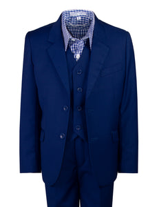 2 Button Slim Fit Suit with Checkered Dress Shirt (Layne)