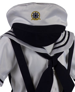 Navy Blue Sailor Short Set Outfit (Chase)