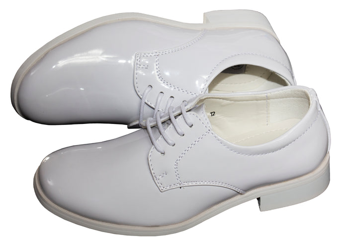 Basic Round Toe Patent Tuxedo Shoes (Declan)