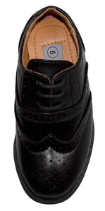 Round Toe Oxford Wing Tip Dress Shoes (Jace)