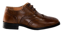 Load image into Gallery viewer, Round Toe Oxford Wing Tip Dress Shoes (Jace)