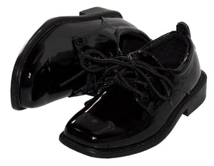 Classic Patent Square Toe Tuxedo Shoes (Michael)