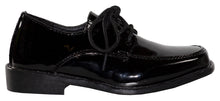 Load image into Gallery viewer, Classic Patent Square Toe Tuxedo Shoes with Stitched Toe (Wyatt)