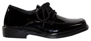 Classic Patent Square Toe Tuxedo Shoes with Stitched Toe (Wyatt)