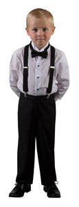 Basic 2 Button Notch Tuxedo with Matching Suspenders (Drake)