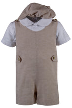 Load image into Gallery viewer, Linen Romper Short Set Outfit with Short Sleeve Shirt (Hudson)
