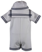 Load image into Gallery viewer, White Sailor Romper Short Set Outfit (Cooper)