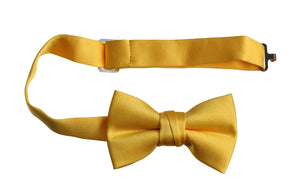 Solid Colored Adjustable Poly Satin Bow Ties (Caleb)