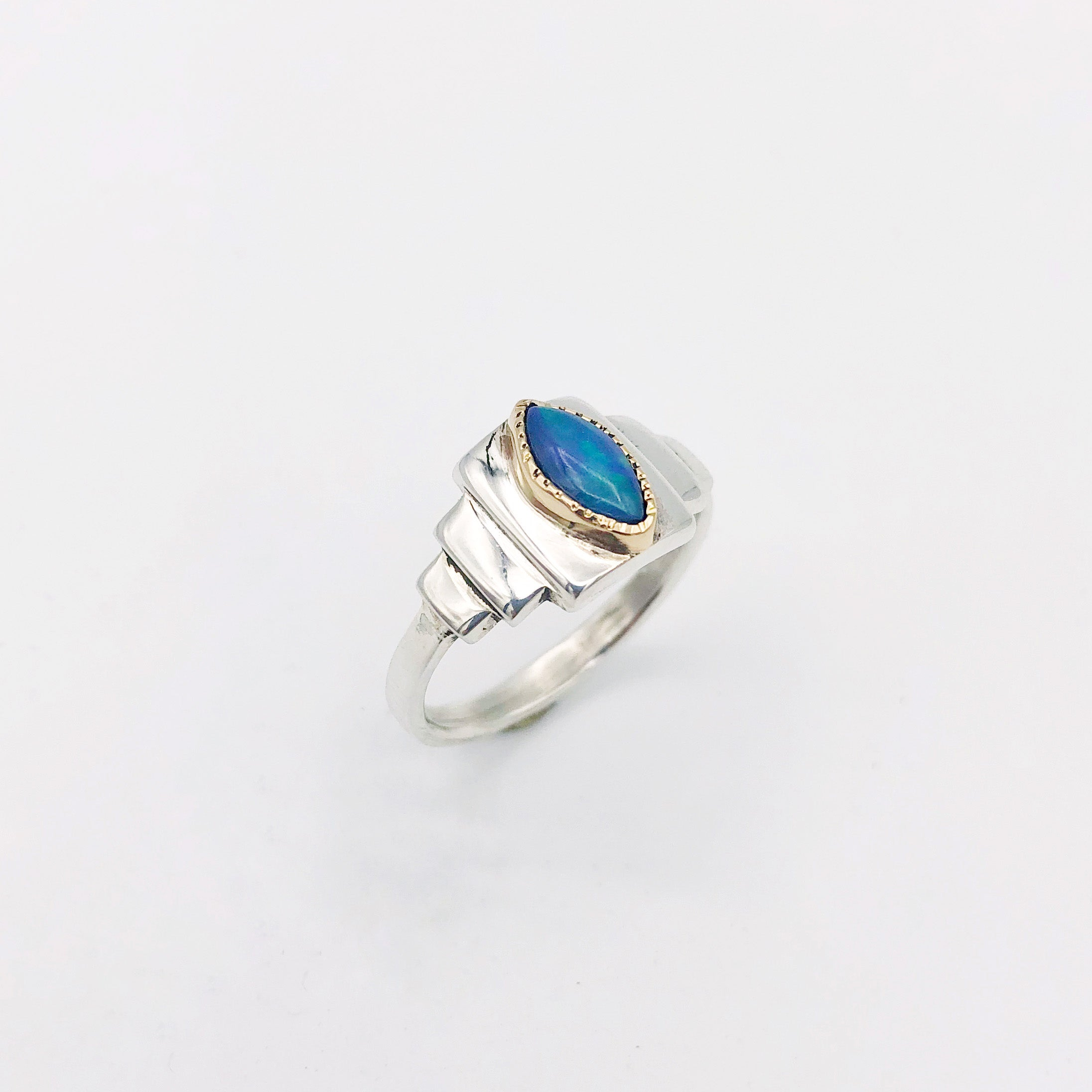 Opal Art Deco Ring