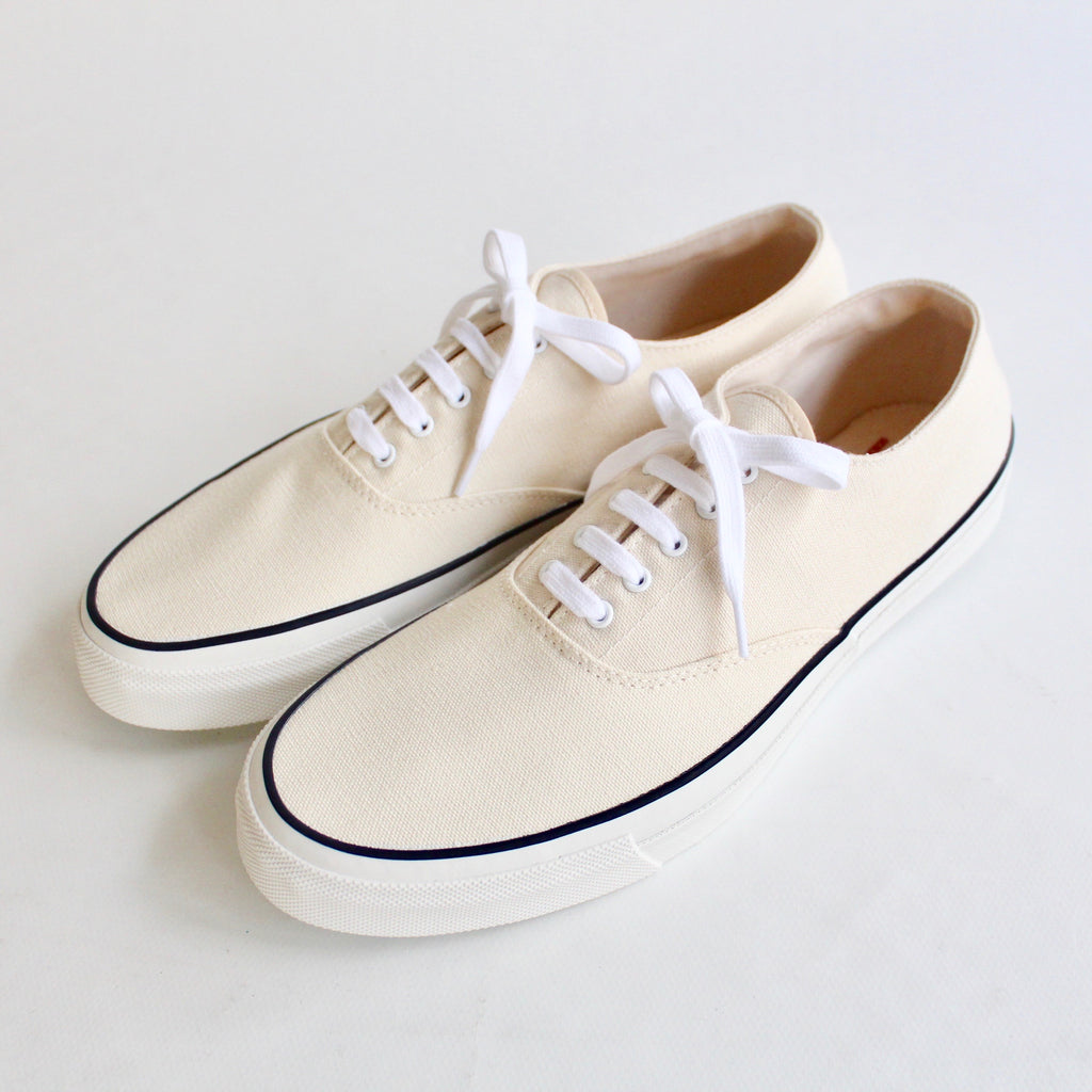 WAKOUWA DECK SHOES LOW WHITE SOLE<br>OFF WHITE - ref.