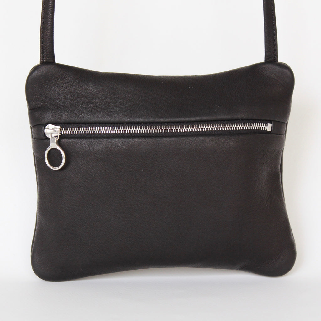DEER LEATHER FLAT POUCH SHOULDER typeA - ref.
