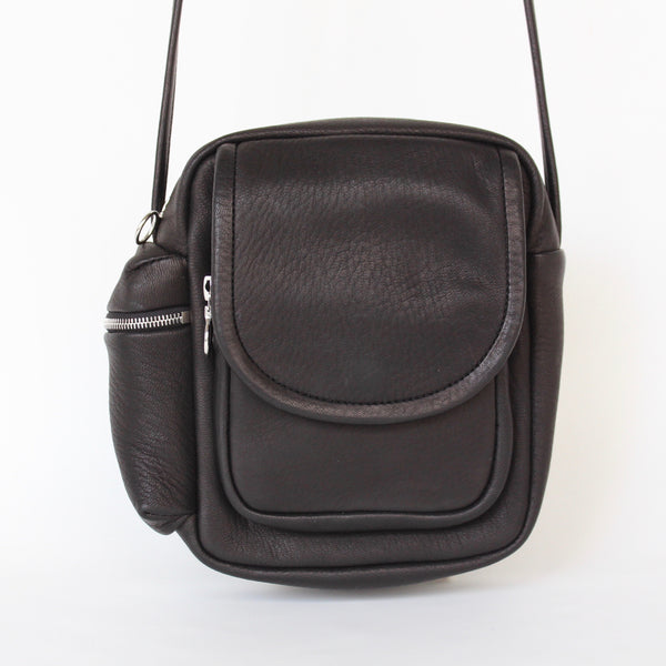 DEER LEATHER SHOULDER POUCH - ref.