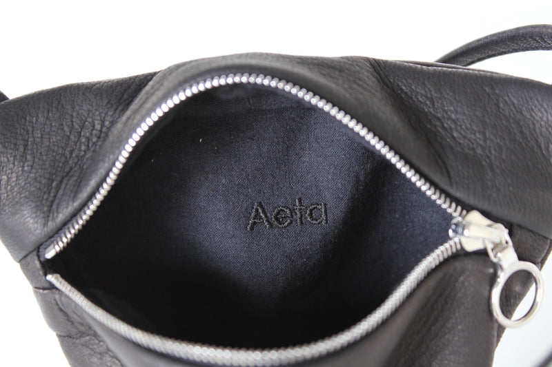 DEER LEATHER FLAT POUCH SHOULDER typeB - ref.