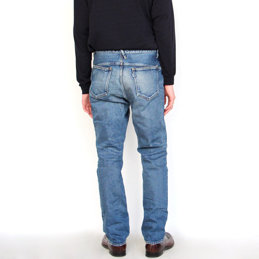 DWELLER 5P JEANS DROPPED FIT C/P 13oz DENIM STRETCH VW 'JAMIE'