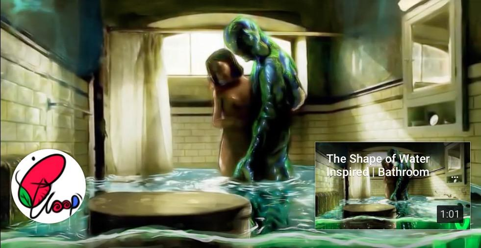 The Shape of Water | Bathroom Scene Painting Progress Video