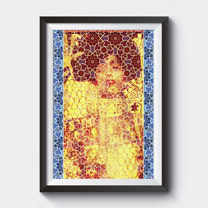 Gustav Klimt & Persian Ceramic Art inspired Painting - EGLOOP