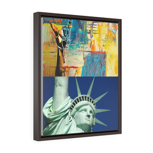 KEEP on ROCKIN - Statue of Liberty Style | Vertical Framed Premium Gallery Wrap Canvas - EGLOOP
