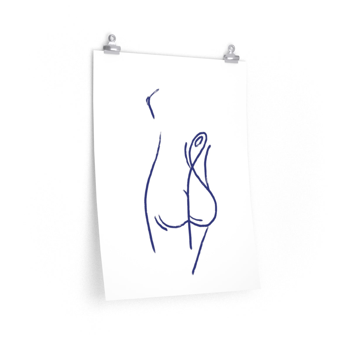 Sexy Back | Line Art | Print | Poster | Painting | Drawing | Premium Matte vertical posters - EGLOOP