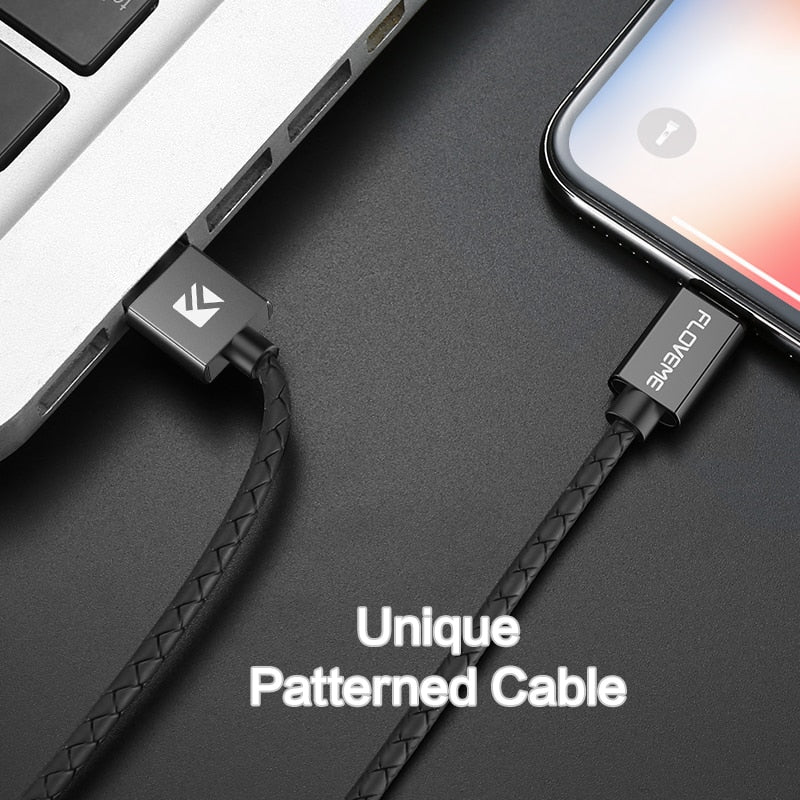 FLOVEME 3A Magnetic USB Cable For iPhone, Micro-USB or USB Type C - Fast Charging and Data Compatible