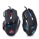 Wired Gaming Mouse 5500 DPI Adjustable 7 Buttons Cable USB LED