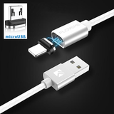 Magnetic USB Cable For iPhone, Micro-USB or USB Type C - 3A Fast Charging and Data Compatible