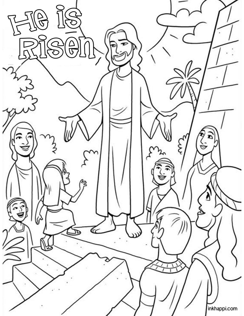 Easter Coloring Pages, Free Easter Coloring Pages for Kids | 1024x791
