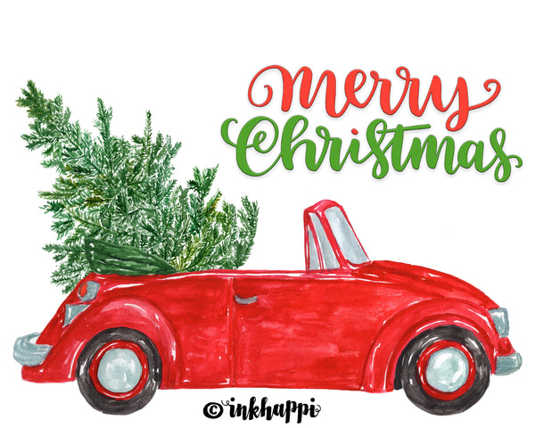 Merry Christmas Holiday Car