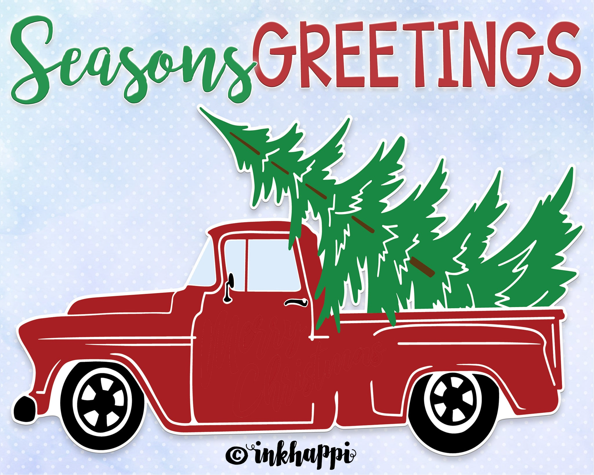Seasons Greetings Holiday Truck