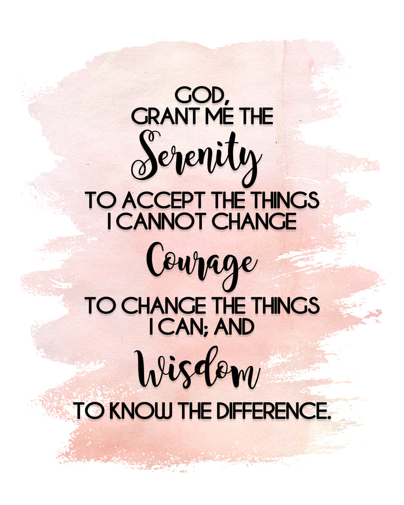 photograph regarding Serenity Prayer Printable named Serenity Prayer Print inkhappi