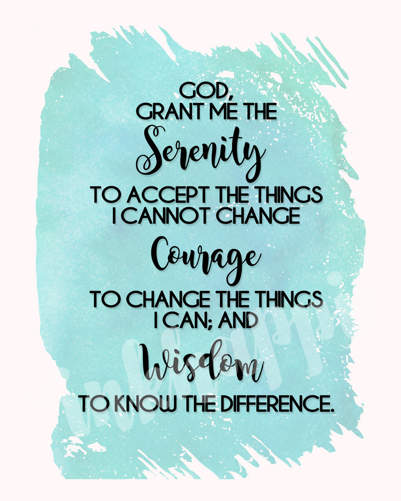 photo regarding Serenity Prayer Printable known as Serenity Prayer Print inkhappi