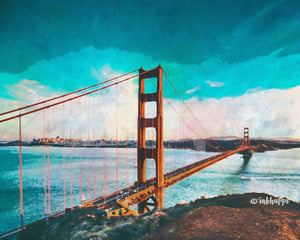 Golden Gate Watercolor