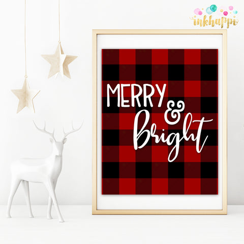 Red Buffalo Plaid Merry & Bright