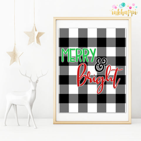 White Buffalo Plaid Merry & Bright