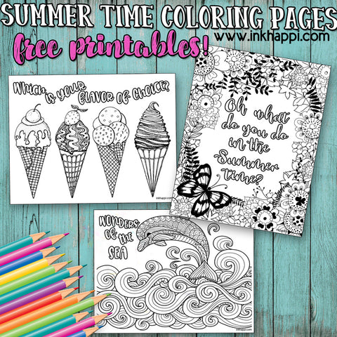 Summer Time Coloring Pages