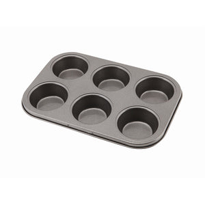 Carbon Steel Non-Stick 6 Cup Muffin Tray