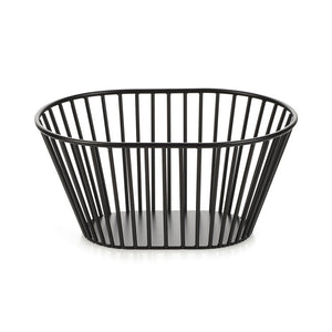 Black Metal Oval Basket
