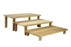 Hewn Oak Riser Table