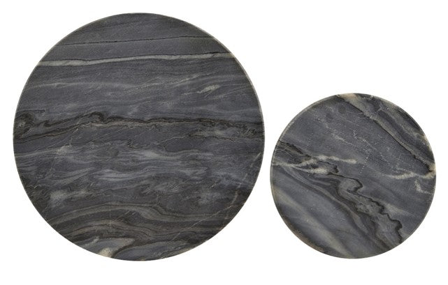 Black Marble Mats (set of 2) Round