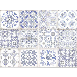 Vintage Blue Decor Tiles (set of 44)