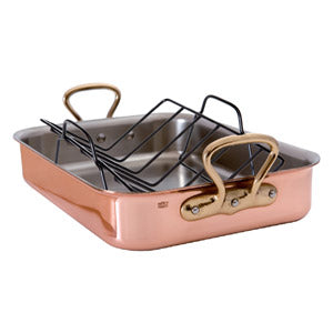 Copper Rect Roasting Pan