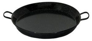Black Enameled Steel Paella Pan