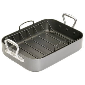 Non Stick Roasting Pan with Chrome Handles