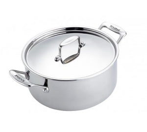 Casserole with Lid S/S w/Side Handle
