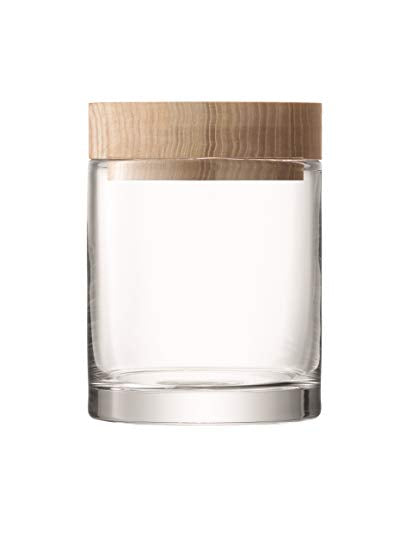 Glass Storage Container, Glass with Ash Lid