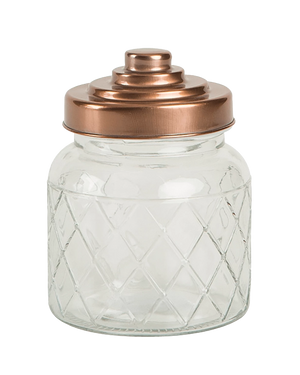 Lattice Jar with Copper Lid